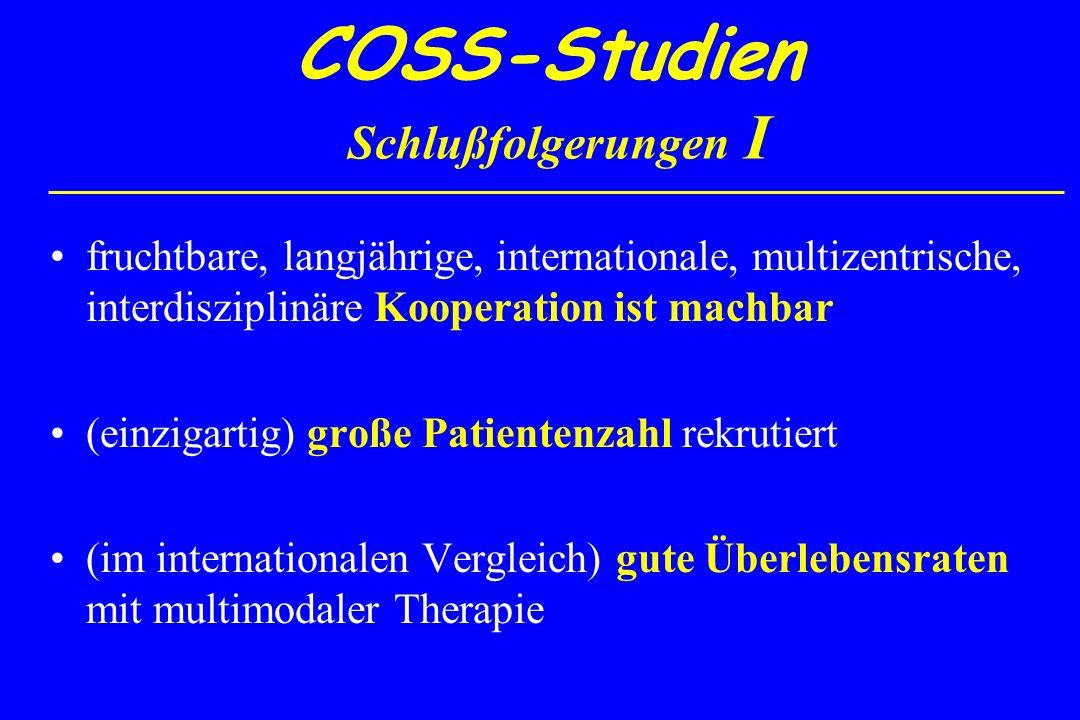 COSS-Studien Schlußfolgerungen I