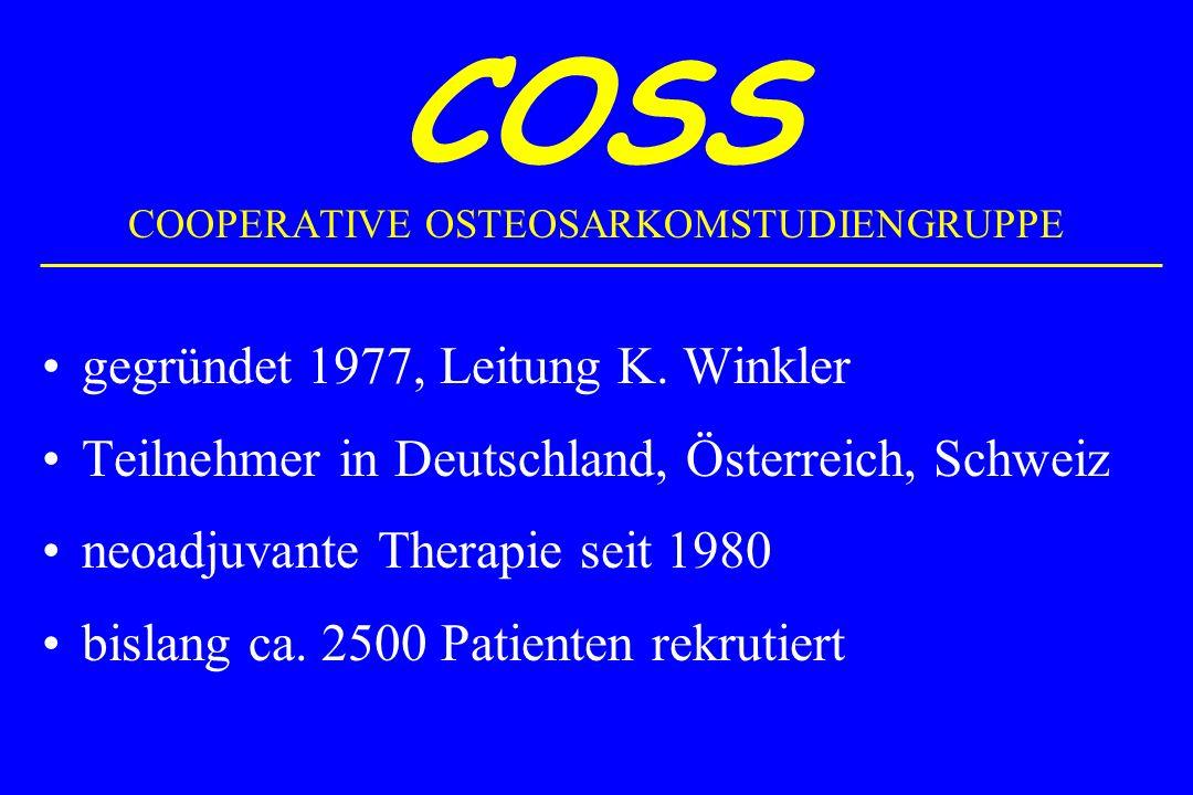 COSS COOPERATIVE OSTEOSARKOMSTUDIENGRUPPE