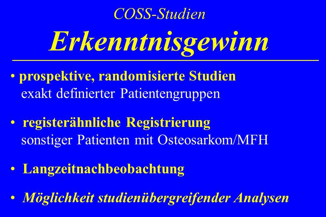 COSS-Studien Erkenntnisgewinn