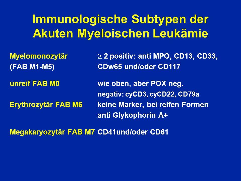 Immunologische Subtypen der Akuten Myeloischen Leukämie
