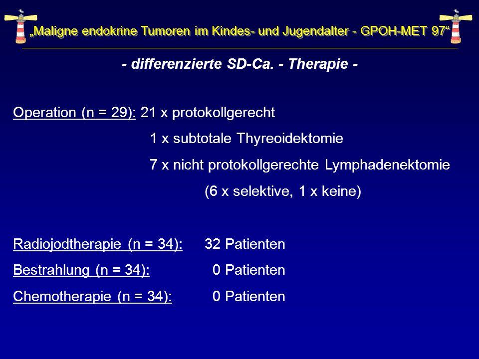 - differenzierte SD-Ca. - Therapie -