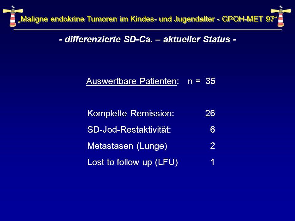 - differenzierte SD-Ca. – aktueller Status -