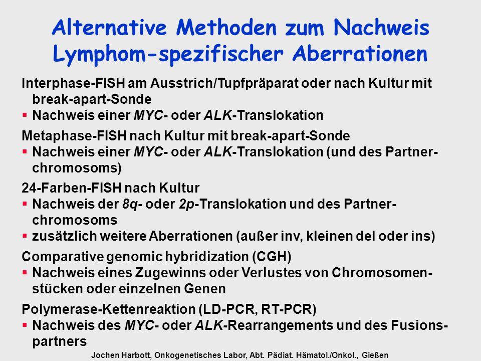 Alternative Methoden zum Nachweis Lymphom-spezifischer Aberrationen