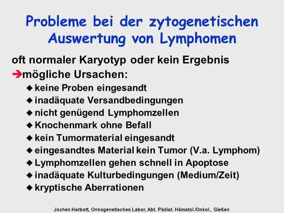 Probleme bei der zytogenetischen Auswertung von Lymphomen