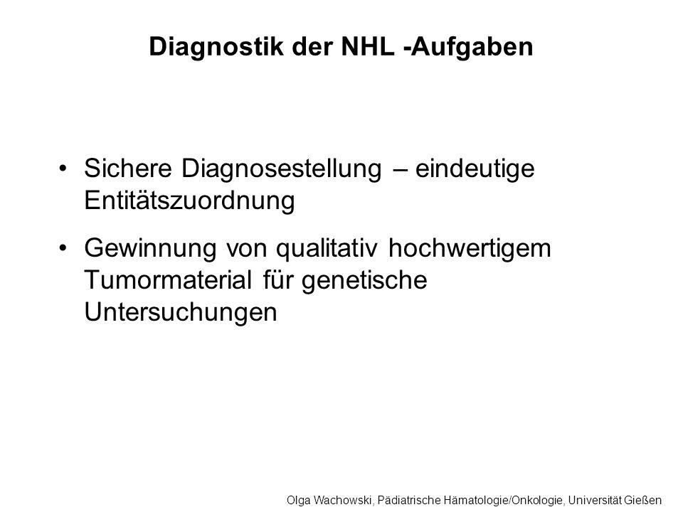 Diagnostik der NHL -Aufgaben