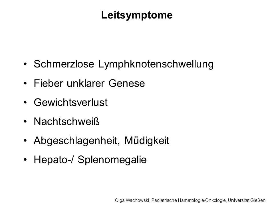 Schmerzlose Lymphknotenschwellung Fieber unklarer Genese