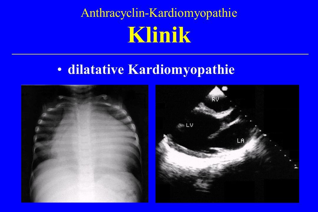 Anthracyclin-Kardiomyopathie Klinik