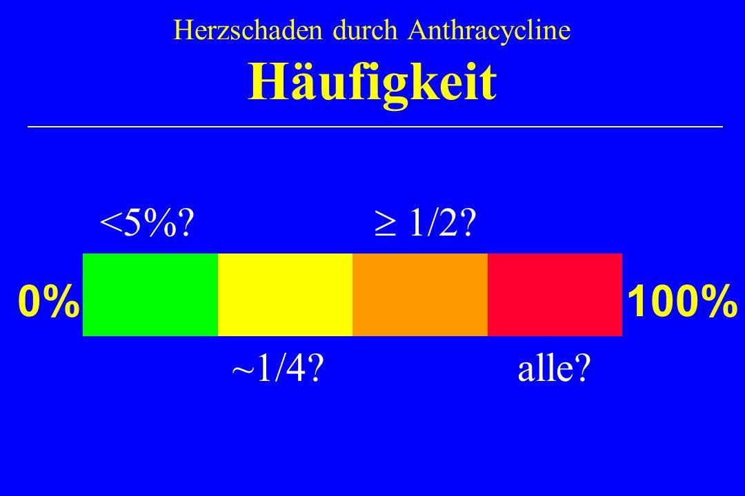 Herzschaden durch Anthracycline Häufigkeit