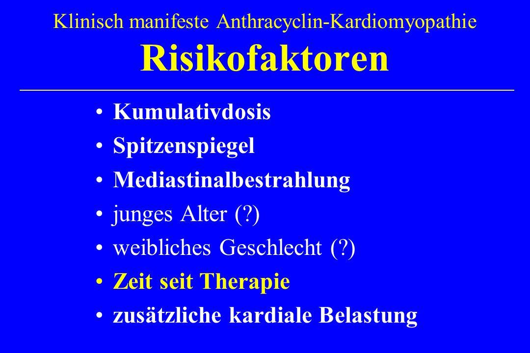 Klinisch manifeste Anthracyclin-Kardiomyopathie Risikofaktoren
