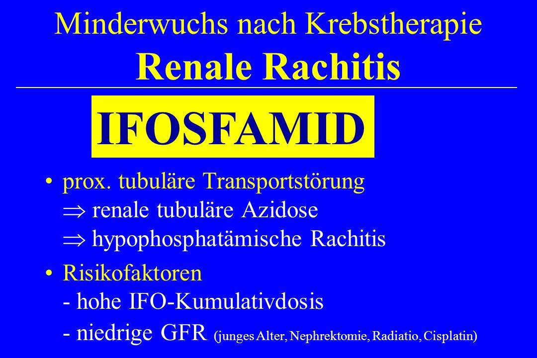 Minderwuchs nach Krebstherapie Renale Rachitis