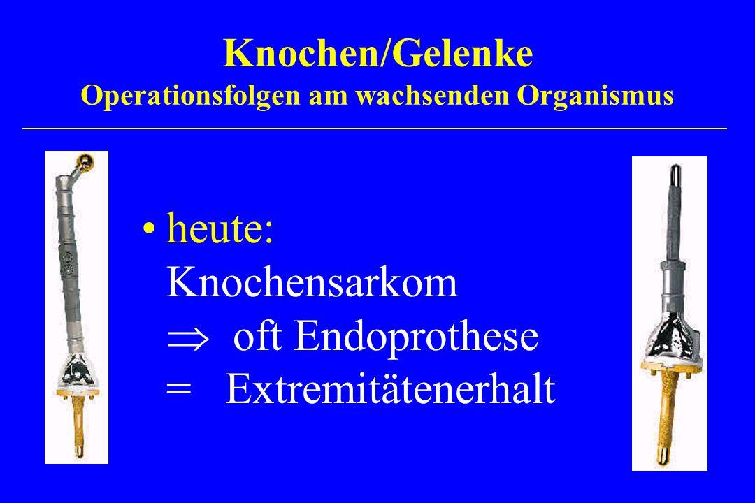 Knochen/Gelenke Operationsfolgen am wachsenden Organismus