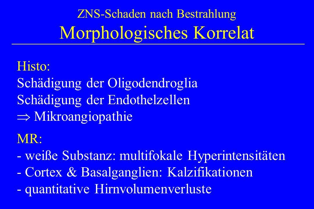 ZNS-Schaden nach Bestrahlung Morphologisches Korrelat