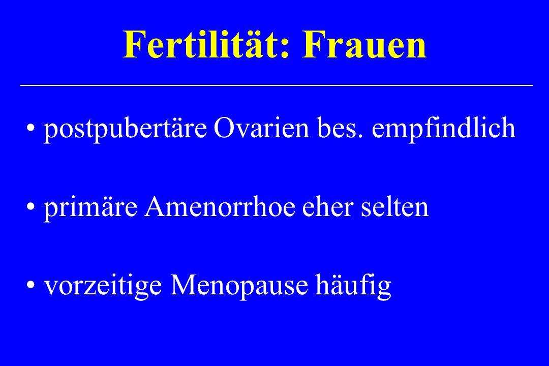 Fertilität: Frauen postpubertäre Ovarien bes. empfindlich