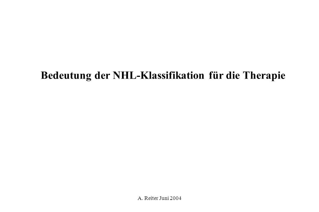 Bedeutung der NHL-Klassifikation für die Therapie