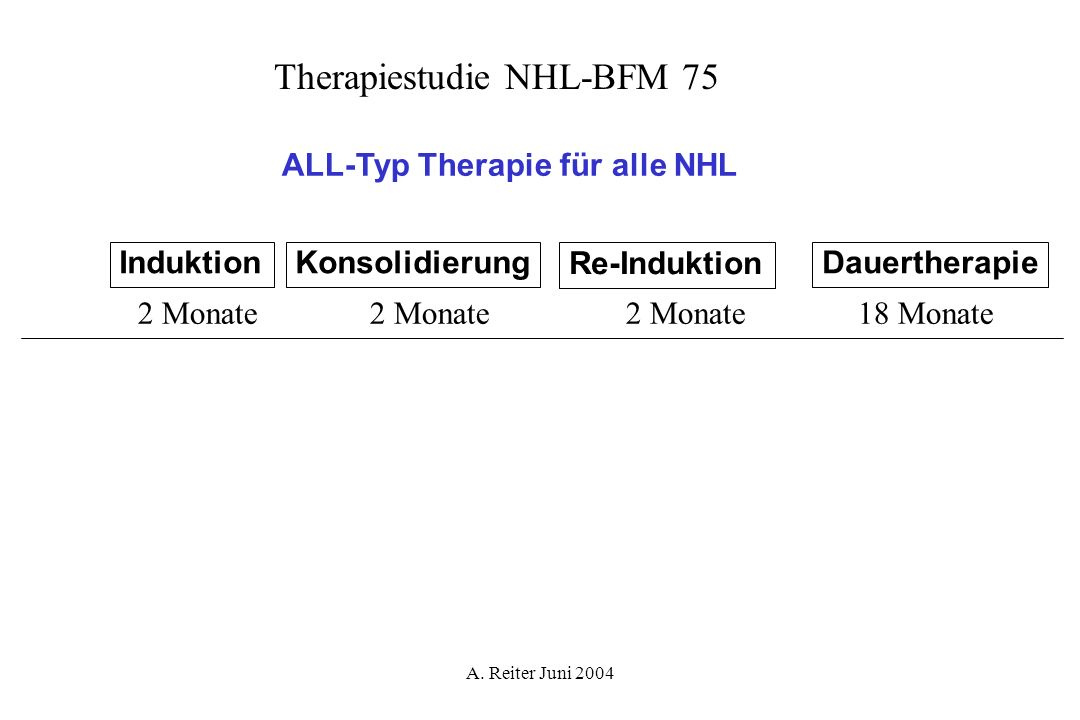 Therapiestudie NHL-BFM 75