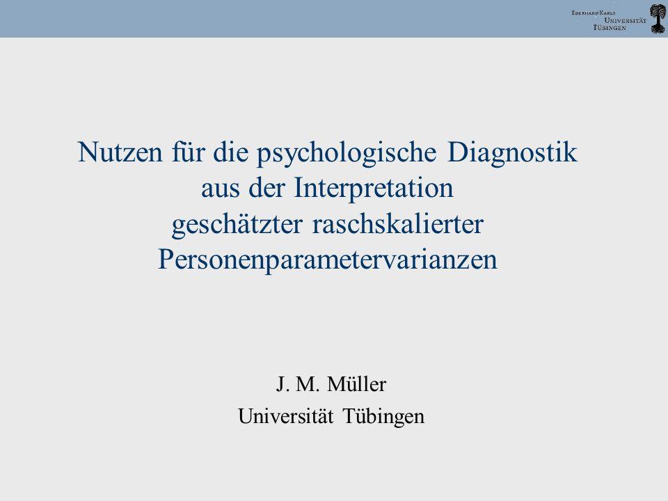 J. M. Müller Universität Tübingen