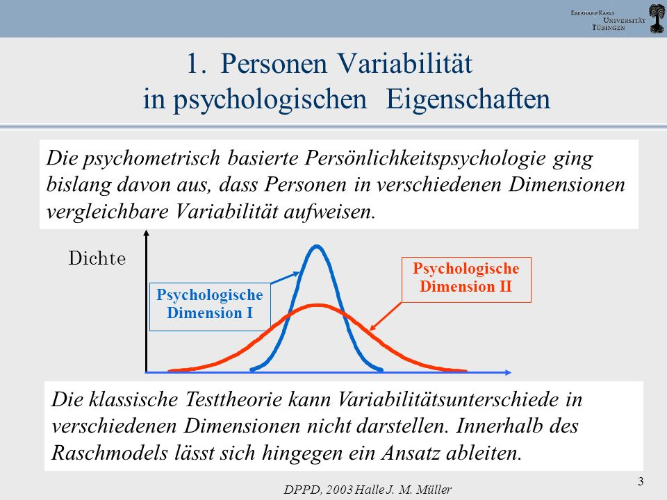Personen Variabilität in psychologischen Eigenschaften