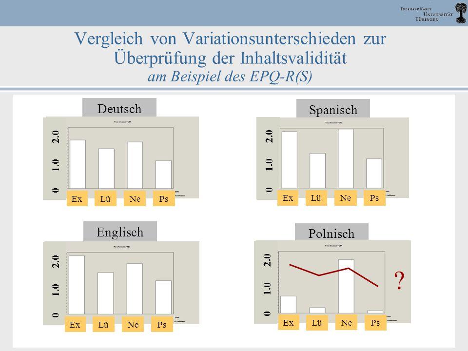Vergleich von Variationsunterschieden zur Überprüfung der Inhaltsvalidität am Beispiel des EPQ-R(S)