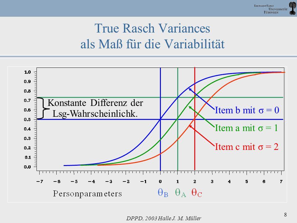 True Rasch Variances als Maß für die Variabilität