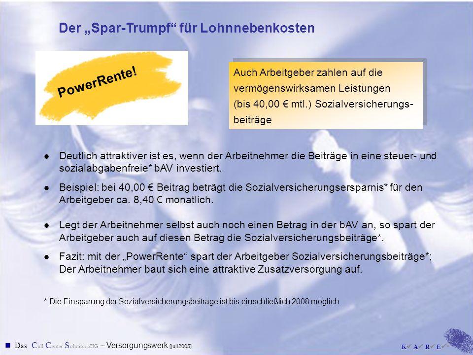 """Der """"Spar-Trumpf für Lohnnebenkosten"""
