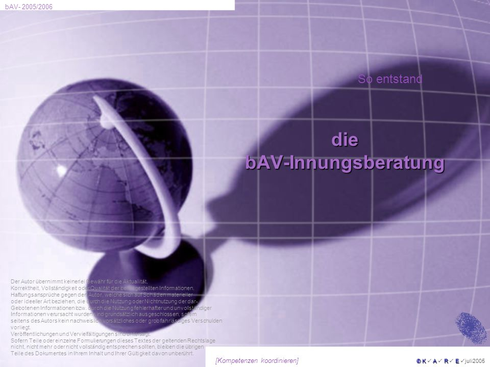 die bAV-Innungsberatung