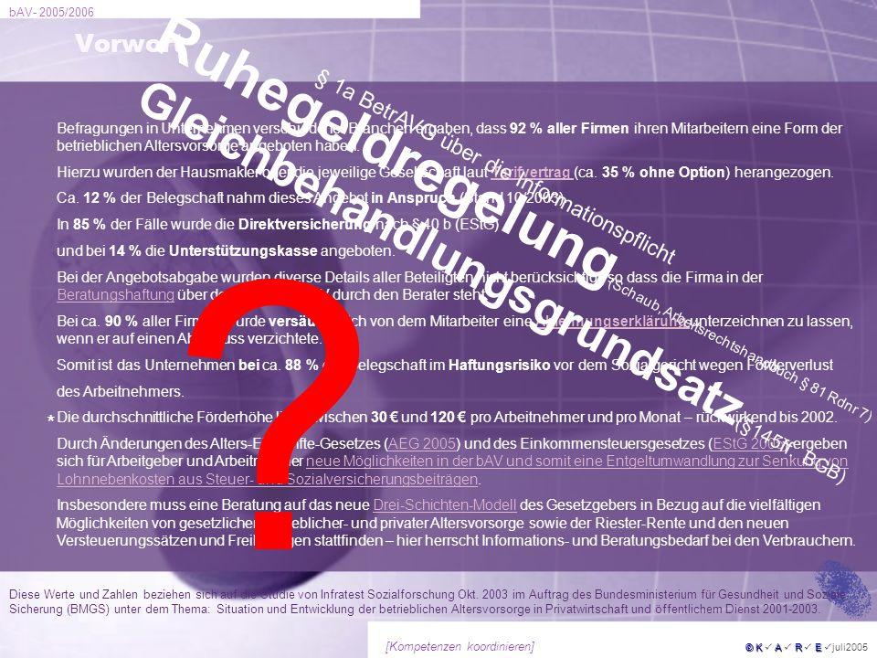 Ruhegeldregelung(Schaub, Arbeitsrechtshandbuch § 81 Rdnr 7)