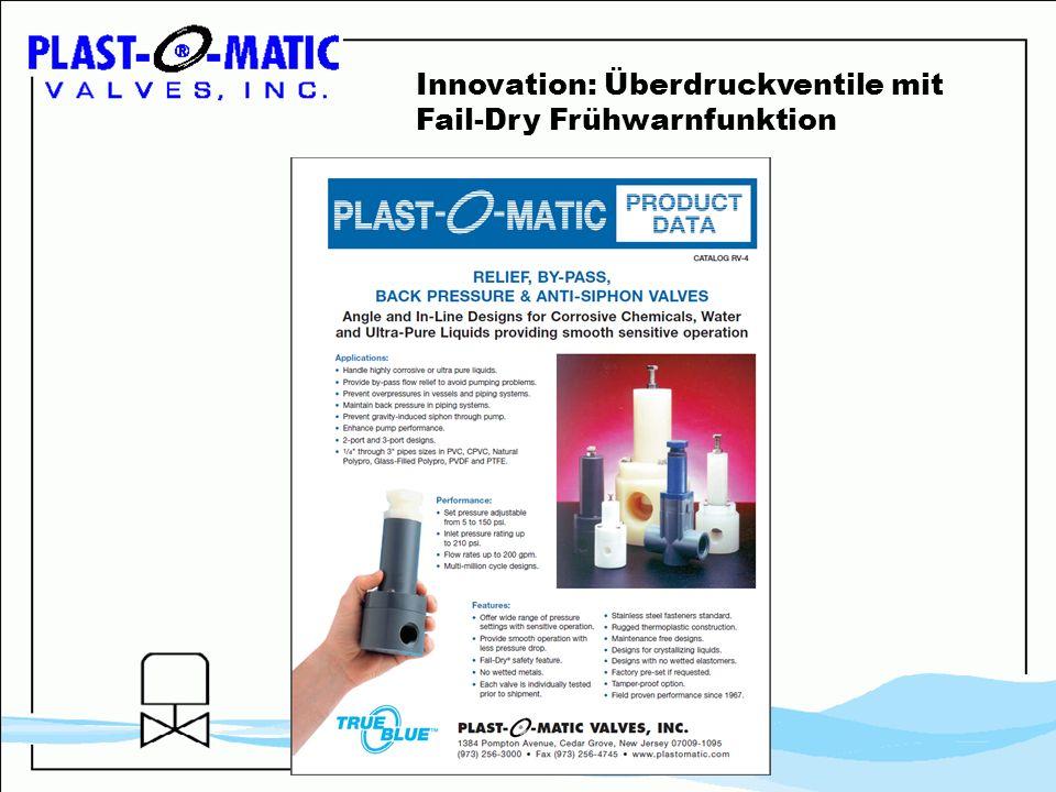 Innovation: Überdruckventile mit Fail-Dry Frühwarnfunktion