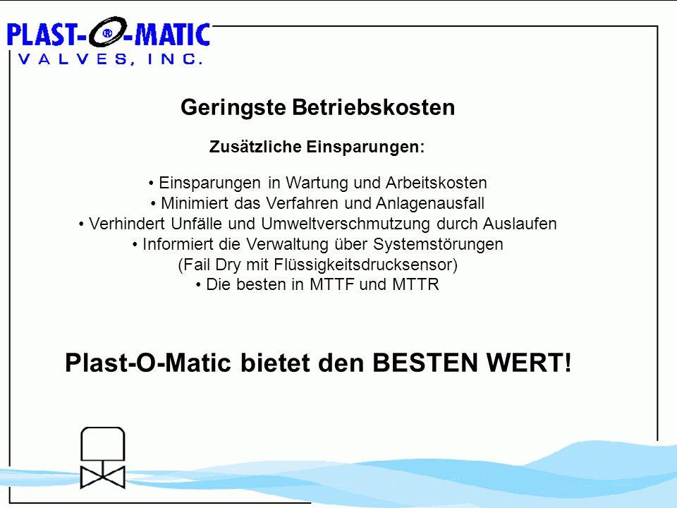 Plast-O-Matic bietet den BESTEN WERT!
