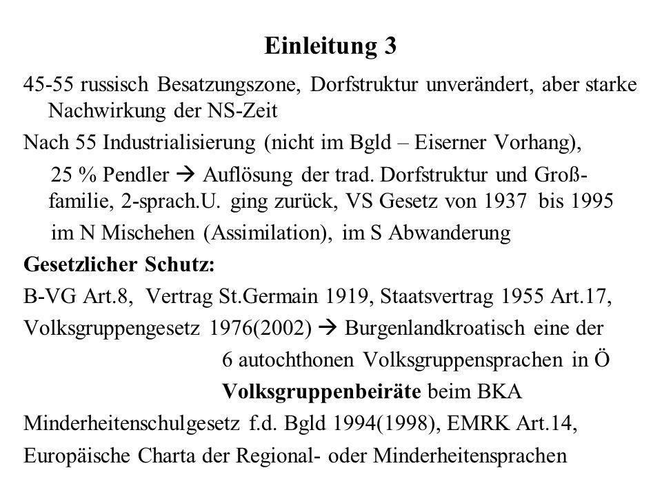Einleitung 345-55 russisch Besatzungszone, Dorfstruktur unverändert, aber starke Nachwirkung der NS-Zeit.