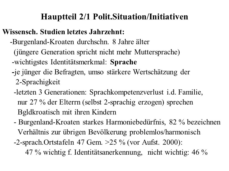 Hauptteil 2/1 Polit.Situation/Initiativen
