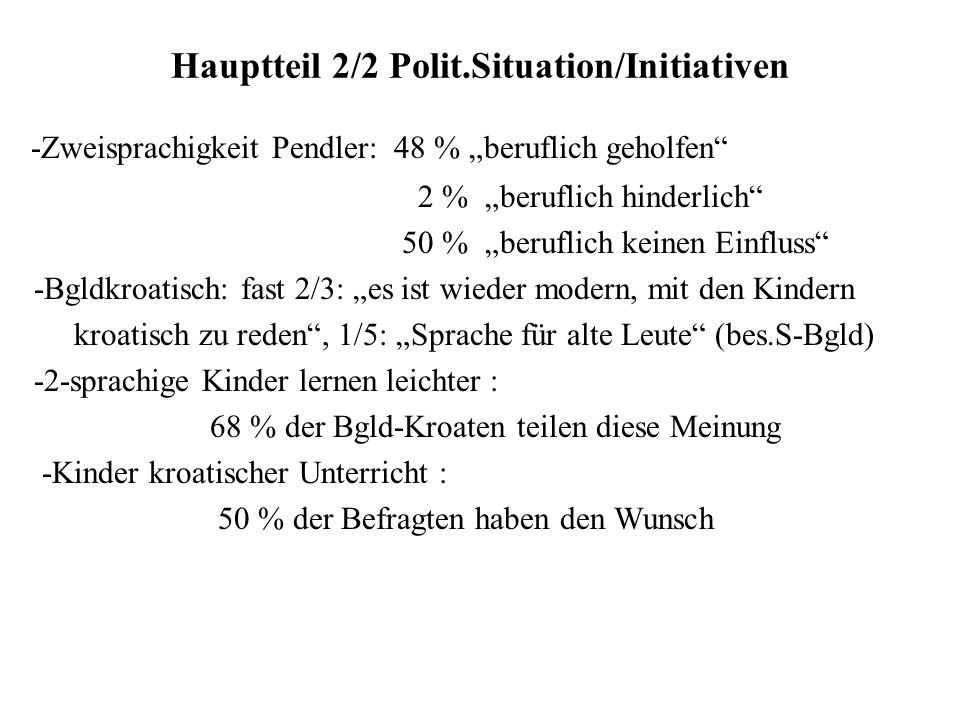 Hauptteil 2/2 Polit.Situation/Initiativen
