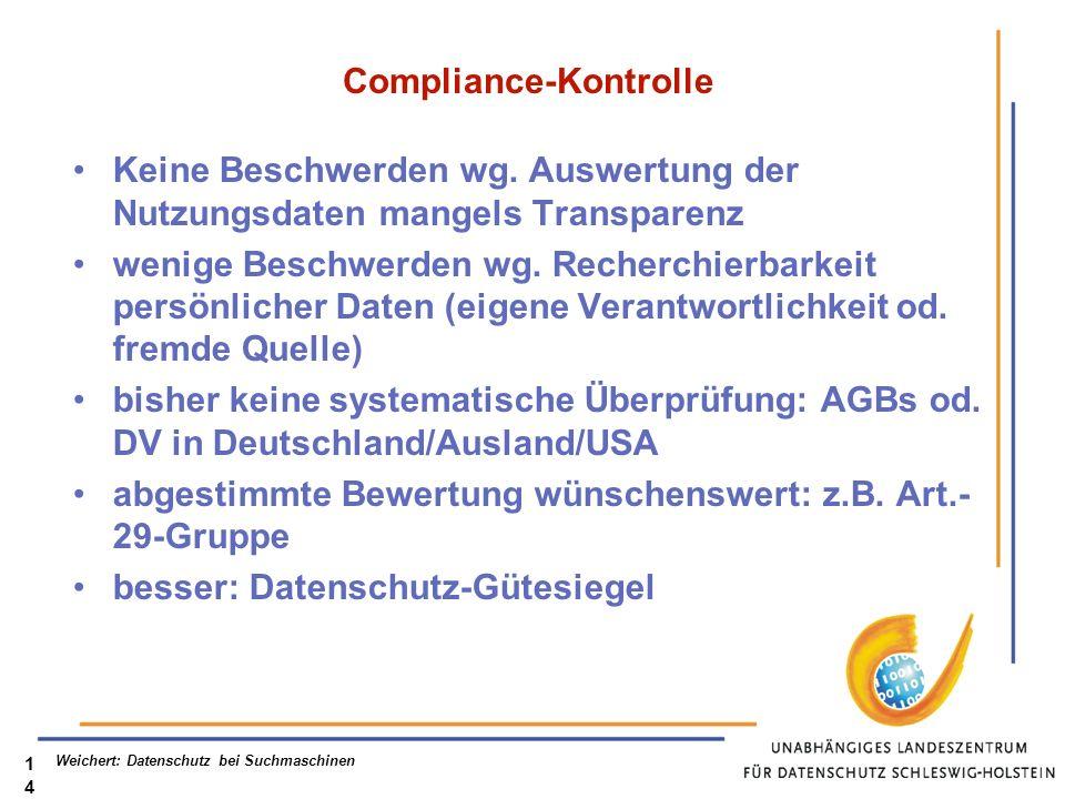 Compliance-Kontrolle