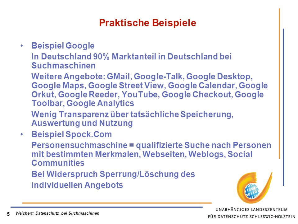 Praktische Beispiele Beispiel Google
