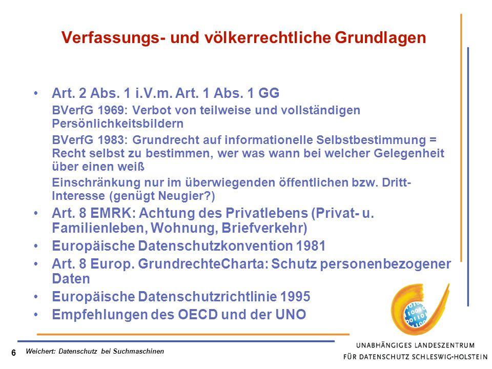 Verfassungs- und völkerrechtliche Grundlagen