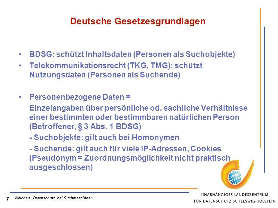 Deutsche Gesetzesgrundlagen