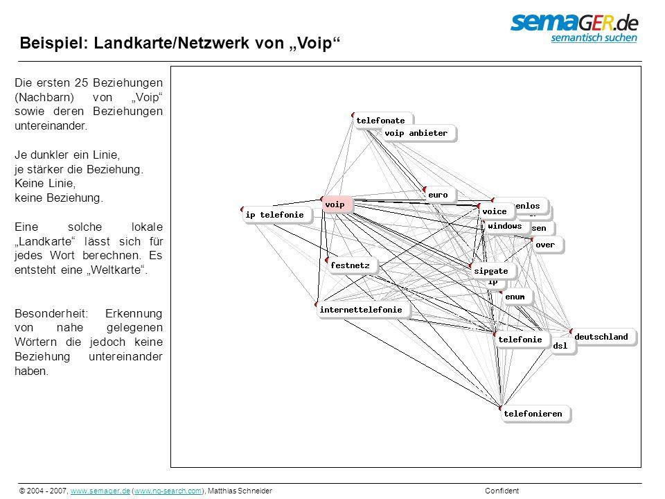 """Beispiel: Landkarte/Netzwerk von """"Voip"""