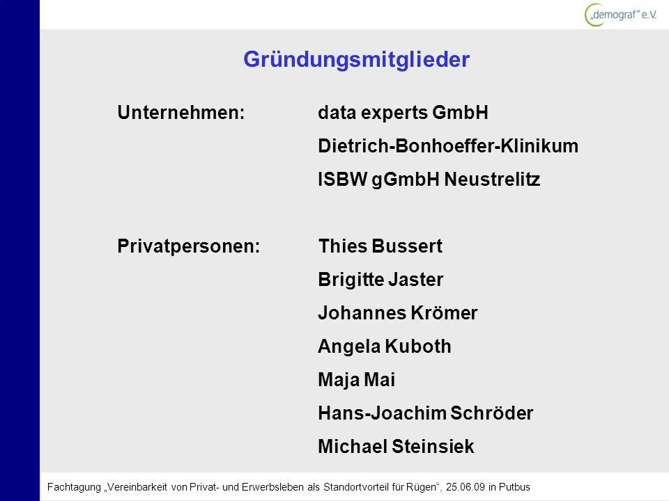 Gründungsmitglieder Unternehmen: data experts GmbH