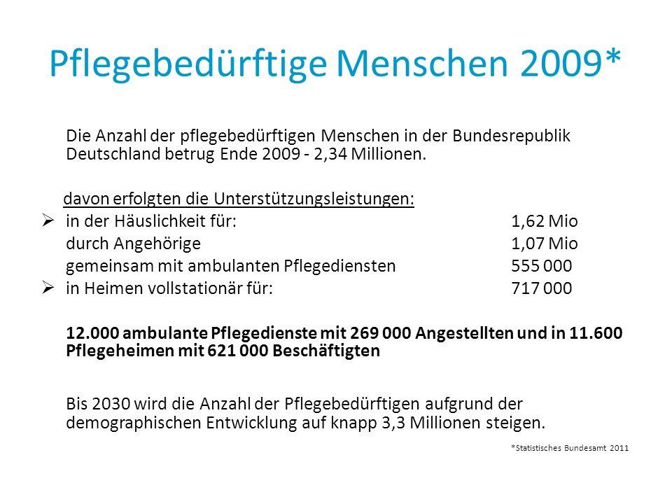 Pflegebedürftige Menschen 2009*