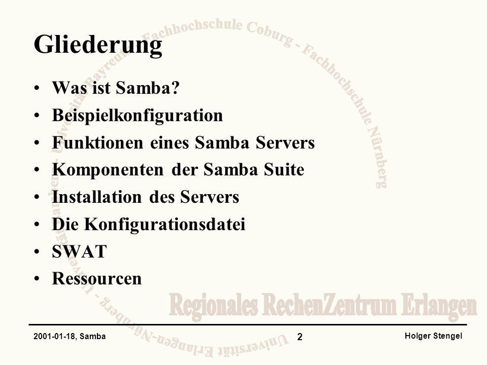 Gliederung Was ist Samba Beispielkonfiguration