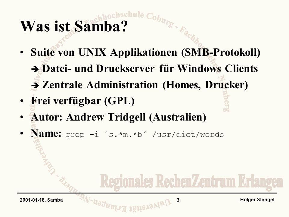 Was ist Samba Suite von UNIX Applikationen (SMB-Protokoll)