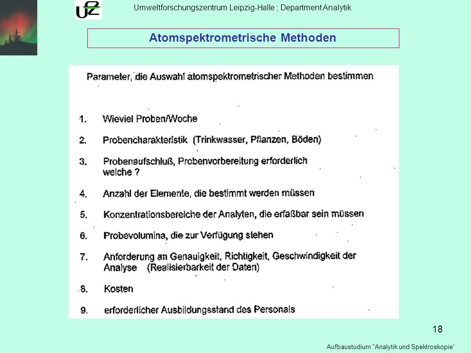 Atomspektrometrische Methoden