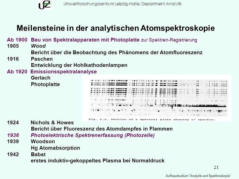 Umweltforschungszentrum Leipzig-Halle; Department Analytik
