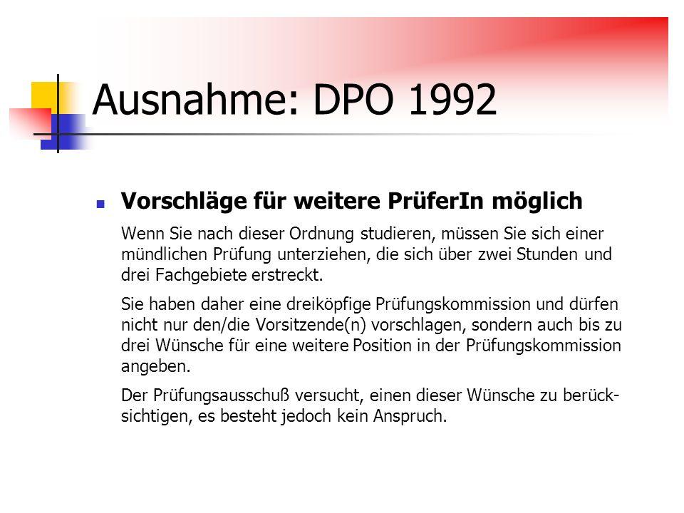 Ausnahme: DPO 1992