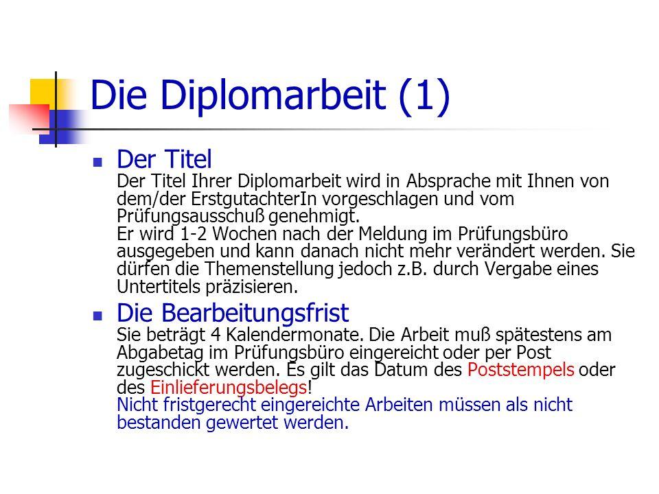 Die Diplomarbeit (1)