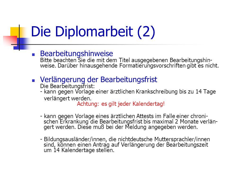 Die Diplomarbeit (2)