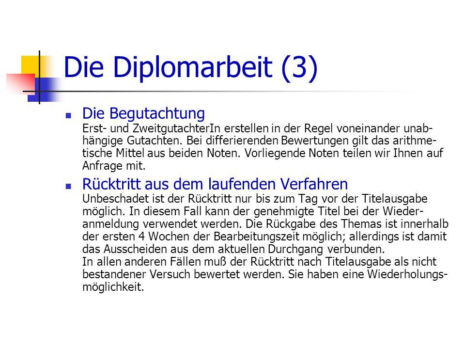 Die Diplomarbeit (3)