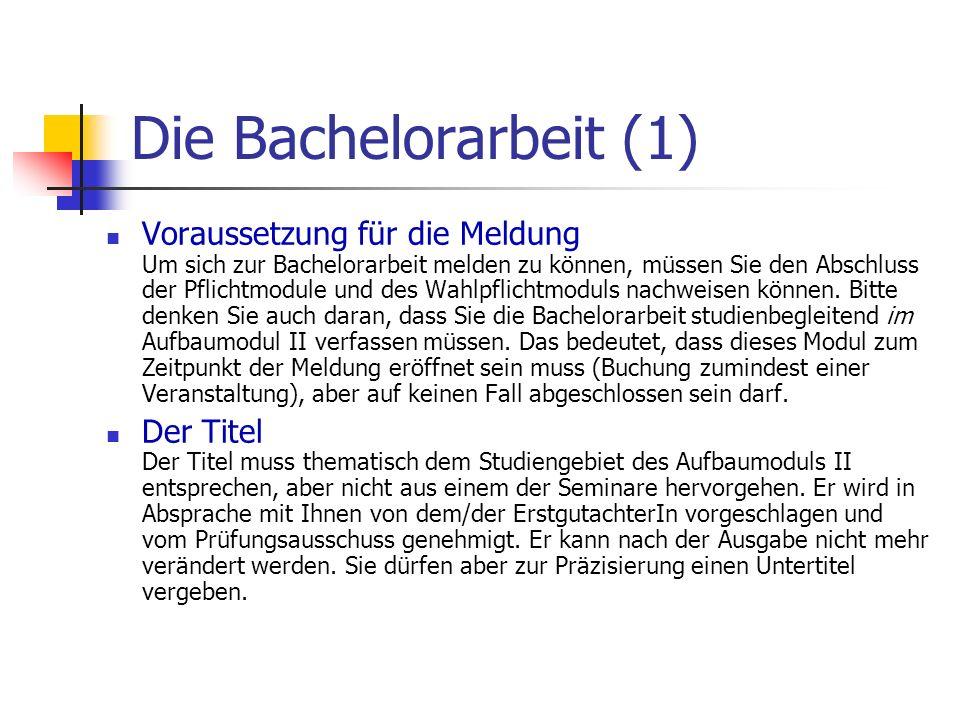 Die Bachelorarbeit (1)