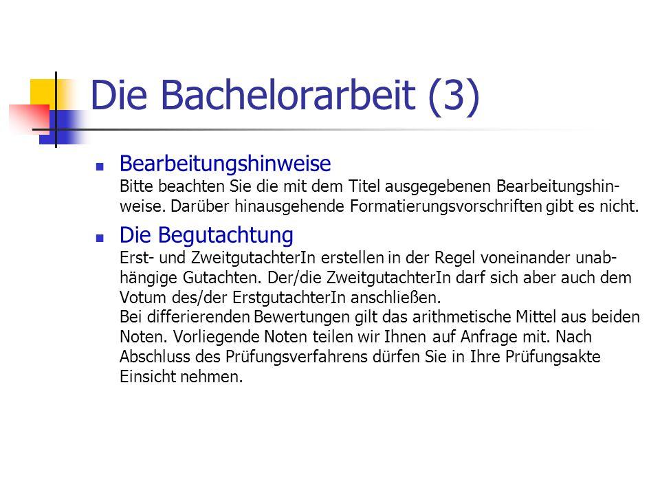 Die Bachelorarbeit (3)