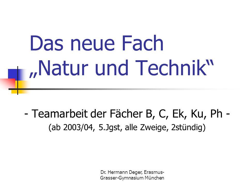"""Das neue Fach """"Natur und Technik"""