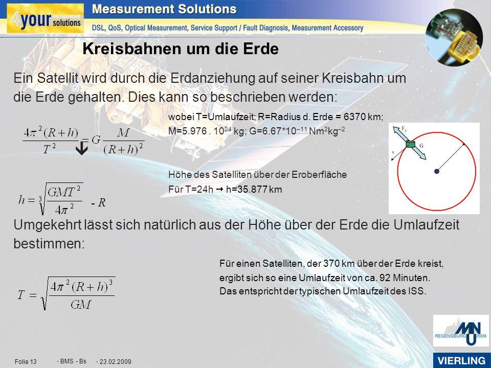 Kreisbahnen um die Erde